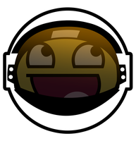 Astronaut Awesome Smiley by E-rap