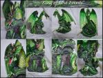 King Of Lost Forests Re-painted Dragon Statue by AoiKita