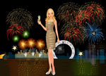New Year's Fireworks Dress-up by kute89
