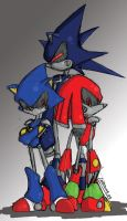 Metal Sonic and cia by Natsumemetalsonic