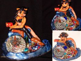 Carmelita Sculpey Figure by Icequeenkitty