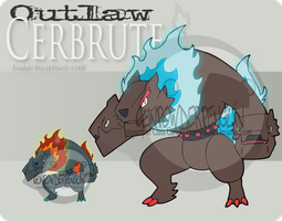 Outlaw Pokemon - Cerbrute by Prinny-Dood