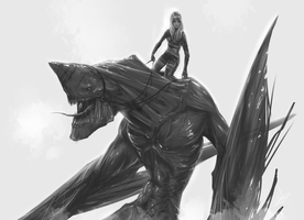 Girl on the dragon by AndyFil