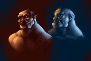 grissers orc portraits 1 by epiphonic