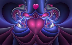 Fanciful Heart Valentine by Frankief