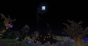 Minecraft:  Halloween Town Panorama by Sherio88
