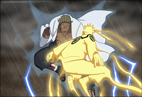 Naruto vs Raikage by LordSarito