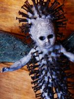 detail of 'Pinhead' by artbikekayakgirl