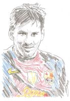 Lionel Messi drawing Barca soccer barcelona by SBdrawings