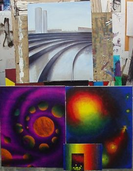 Paintings for final exams by Carboncillapando