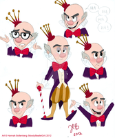 WIR: King Candy Sketchdump by MoodyBeatleGirl
