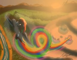 Rainbow Dashing by AFL316