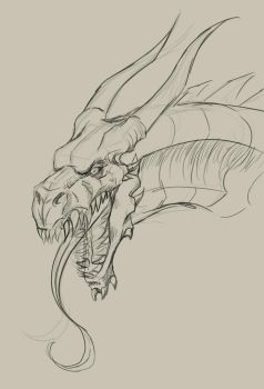 Rough dragon style concepting by BlackHawk45LC