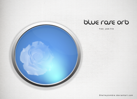 PSD - Blue Rose Orb by shelleyzombie