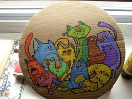 cats wall decor by plavalaguna