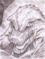 Killer Croc Sketch Shot by StevenSanchez