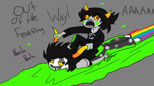 Karkat And Gamzee by evilsushicat