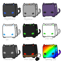 CubeCats: Game Consoles [CLOSED] by Sanza-tan