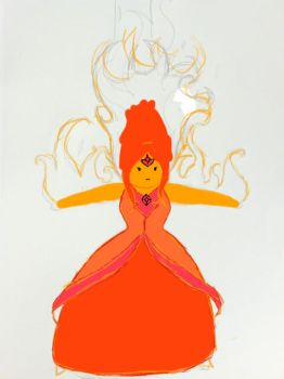 Flame Princess WIP by SquigglesOnPapers