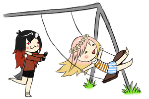 Swing sisters [Request] by AnnissXD