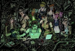 BA Cyberpunk Princesses by mothbot
