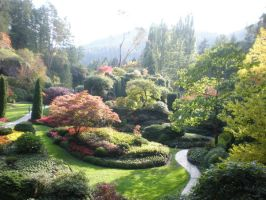 Butchart Gardens Sunken Garden by ValliantCreations