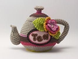 Crochet teapot 2 by Chiparte