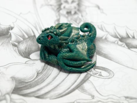 Green dragon baby by Barsudrak