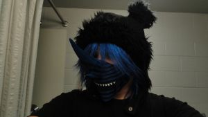 Wip Costume: Mask w/ Wig and Hat by Ultralee0
