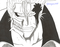 Bleach - Grimmjow - You Cut My Arm Off! (in pen) by Grimmjow411