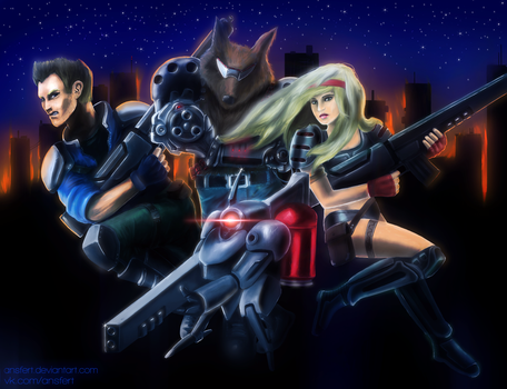 Contra: Hard Corps by ansfert