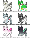Adoptable Batch #2 [4/6 OPEN] by DexterManning-Adopts