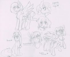 Loga43 and Kazziepones July Sketches by TheNornOnTheGo
