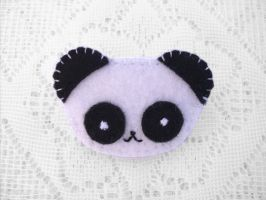 Cute felt panda brooch by PeachPodHandmade