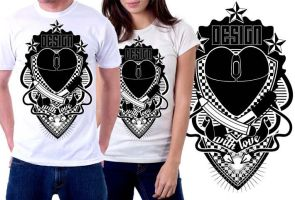 Design with love shirt by Pirlipat