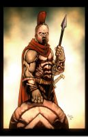Leonidas the Spartan by Kid-Destructo