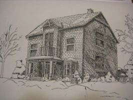 Old house in ink by Stargazer2017