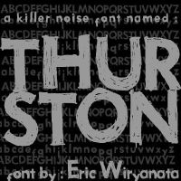 Thurston the Font by sampratot