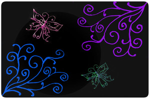 Swirls and Butterflies by DigitalDoodleDesigns