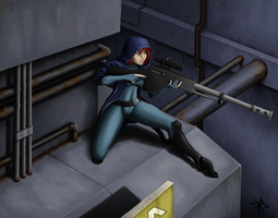 Sniper on the roof by Einherjar-keith