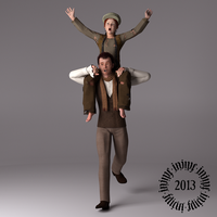 Grantaire and Gavroche by 3dLux