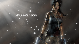 Lara Croft Snowy Wallpaper by BobbaCroft12345