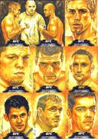 Topps UFC Bloodlines yellow sketch cards by therealbradu