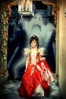 Little princess in castle by Amosha