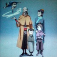 Tenzin and family by Sealana
