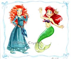 .: Commission - Red-Hairs Princesses :. by xSkyeCrystalx