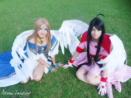 Belldandy and Skuld by adami-langley