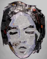 me with newspaper by perupowa