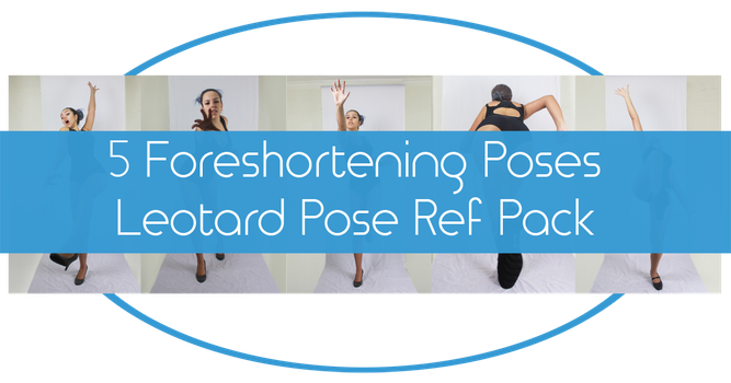 Foreshortening Poses - Leotard Reference Pack by charligal-stock