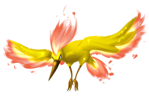 The Legendary Bird Moltres by jaclynonacloud